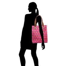 Load image into Gallery viewer, Pink patola print tote bag