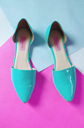 Tiffany blue D'orsay flats