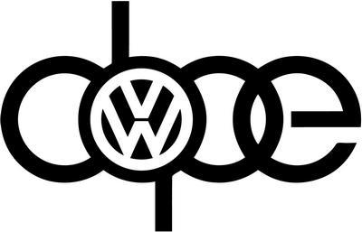 DOPE Volkswagen Tuner car decal sticker
