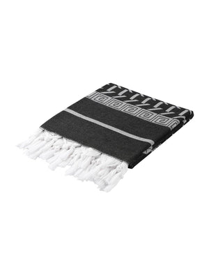 HERCULES GREEK TURKISH TOWEL BLACK