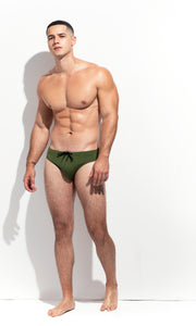 CLASSIC CUT SWIM BRIEF PALM GREEN