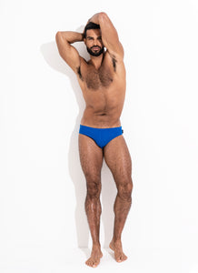 Ribbed Classic Cut Swim Brief - Cobalt Blue
