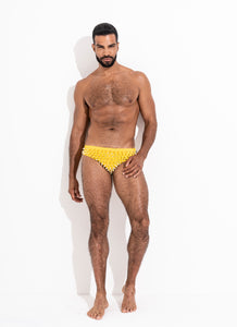 "Classic Cut Swim Brief Sun "" Limited Edition. Full Gold Stud"""