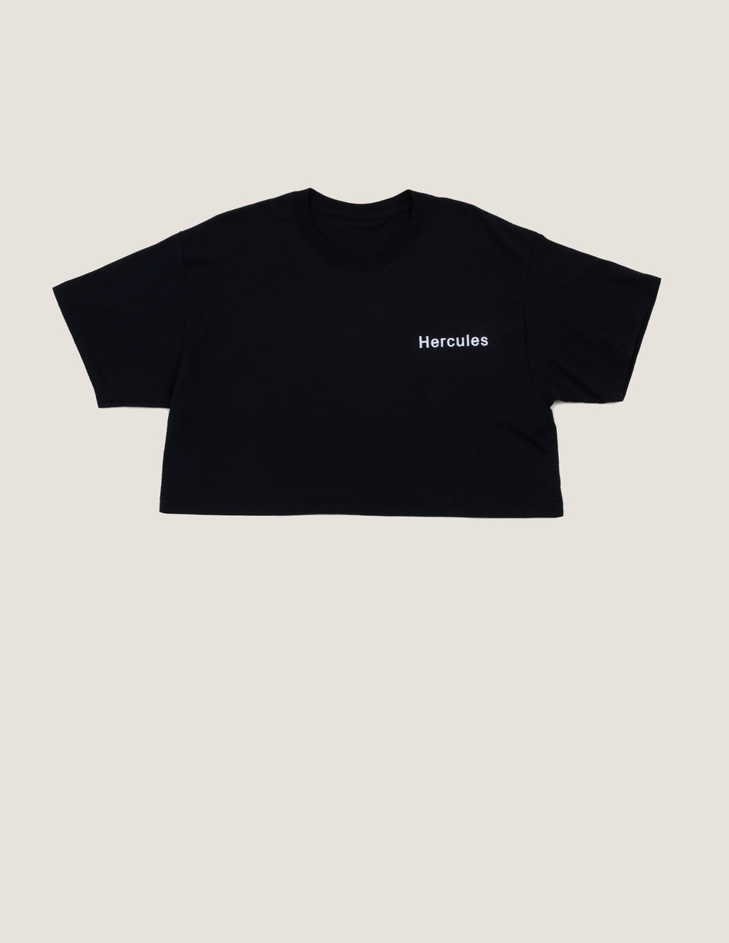 Hercules Logo Crop Top White Embroidery