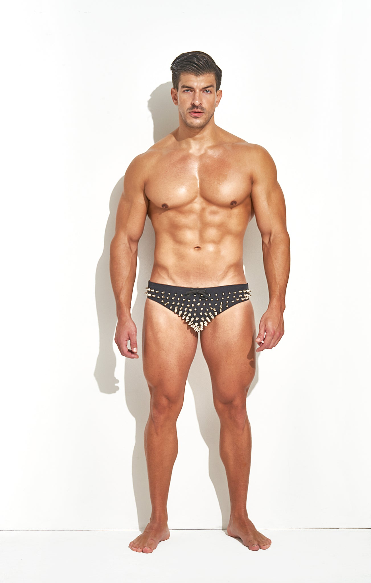 "Classic Cut Swim Brief "" Limited Edition Full Stud Silver"""