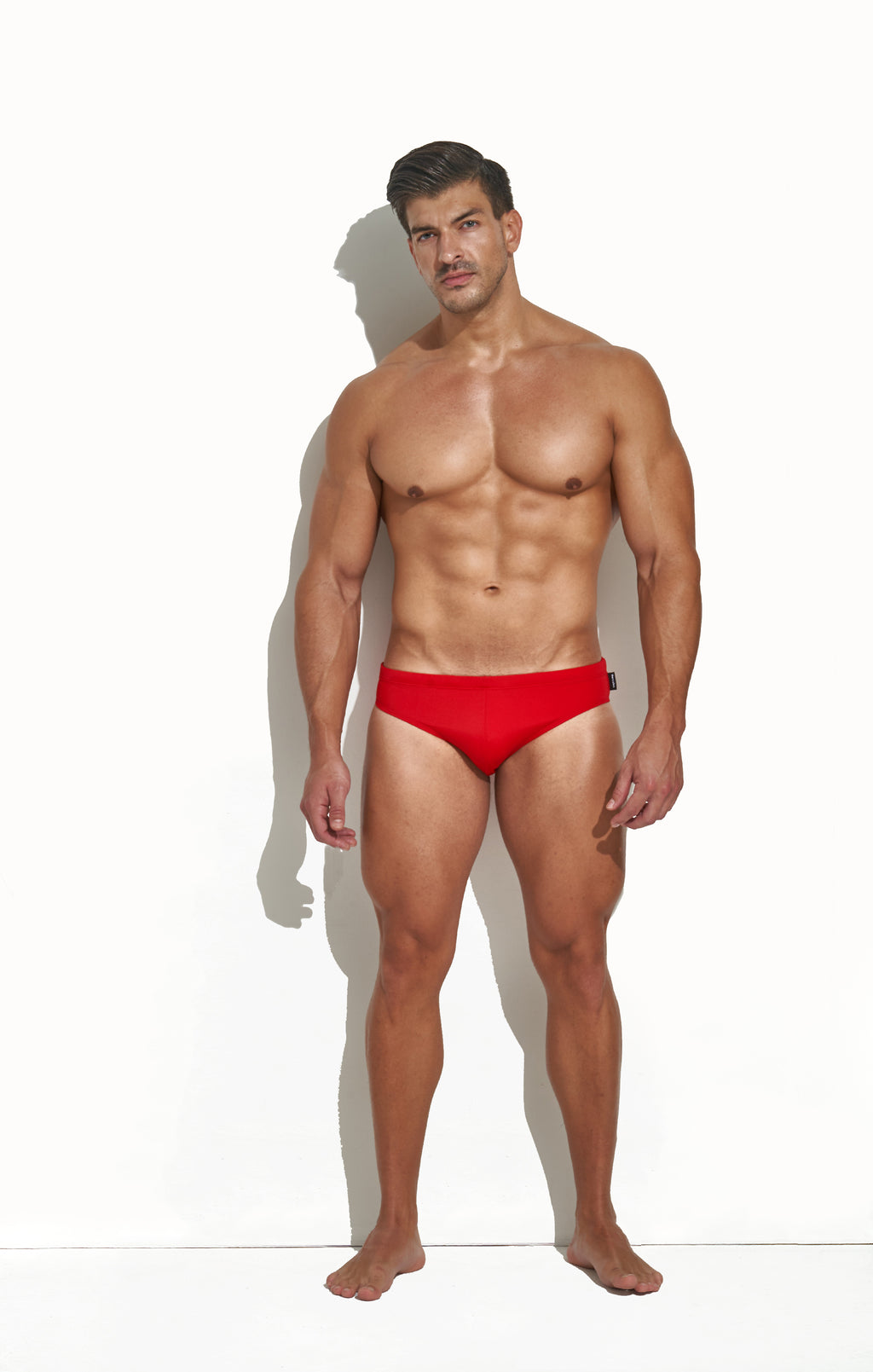 CLASSIC CUT SWIM BRIEF CRIMSON