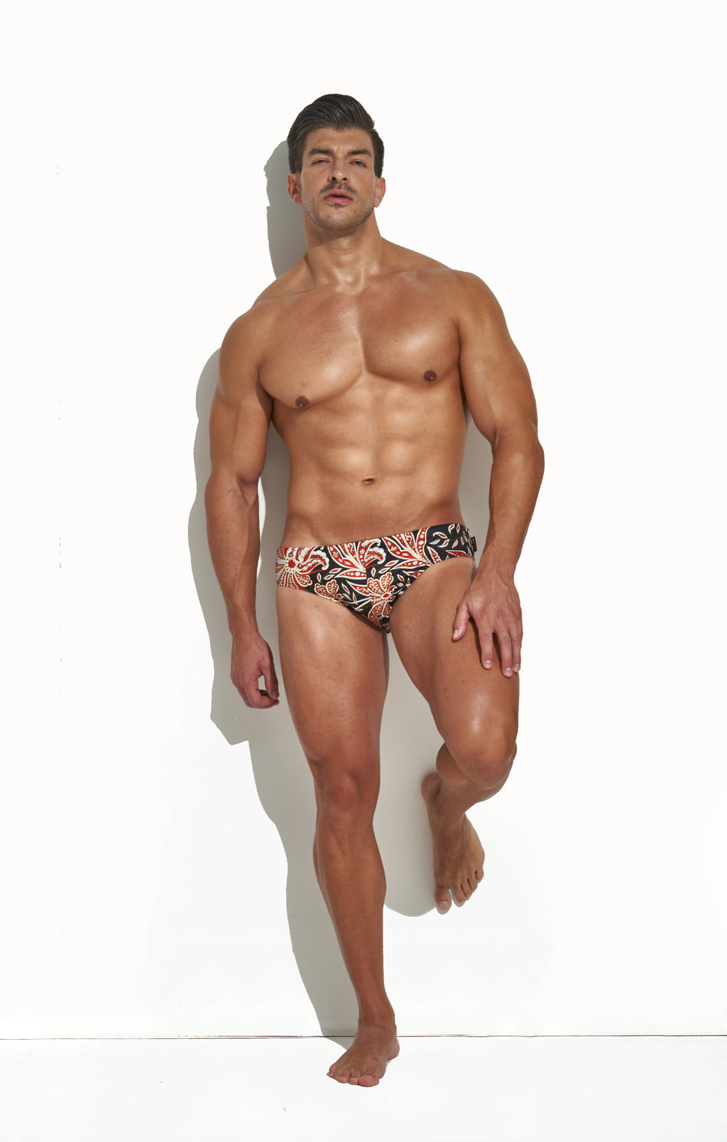 CLASSIC CUT SWIM BRIEF TILE PRINT