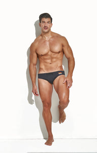 "CLASSIC CUT SWIM BRIEF BLACK ""PRIDE EDITION"""