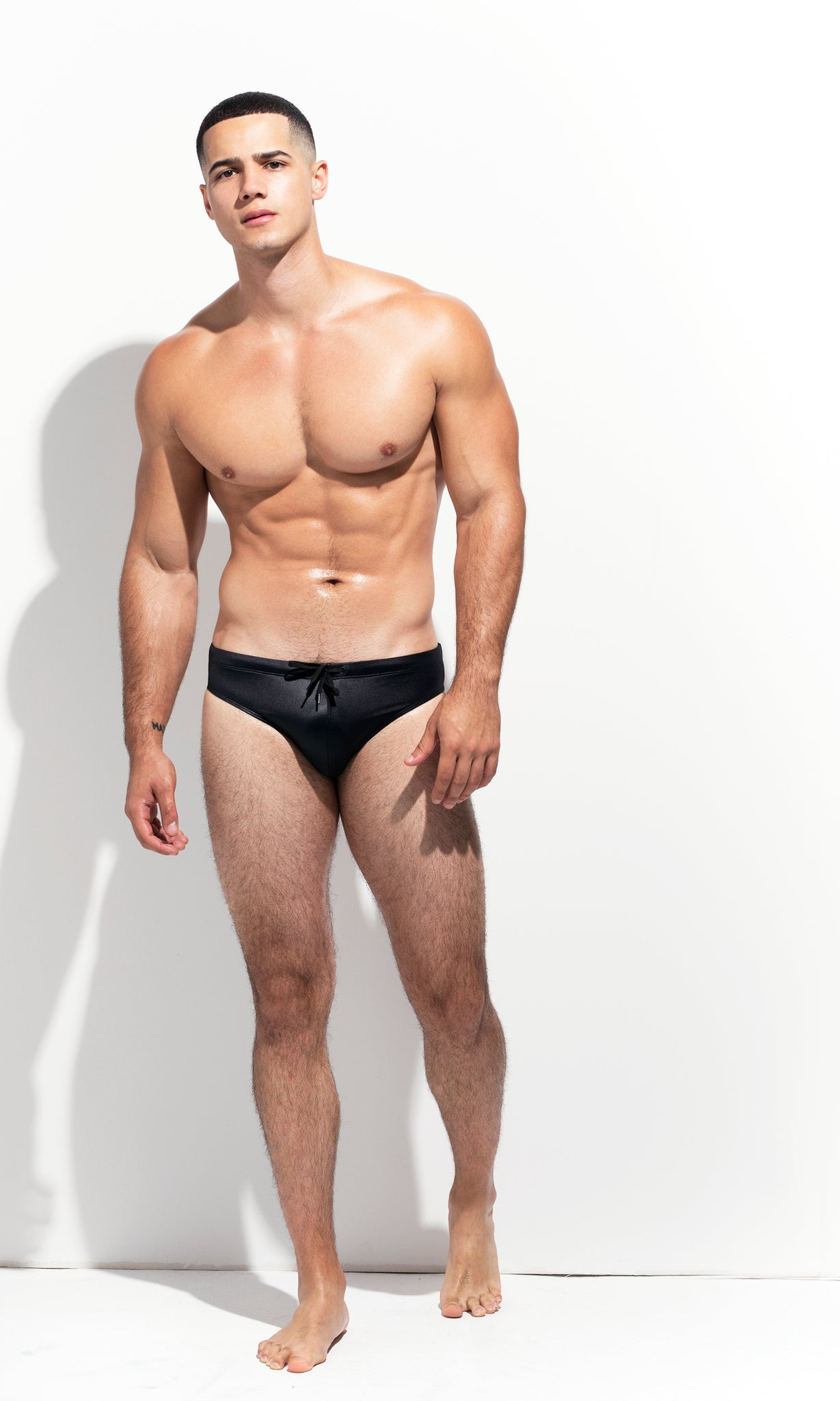 "CLASSIC CUT SWIM BRIEF "" LIMITED EDITION: METALLIC BLACK"""