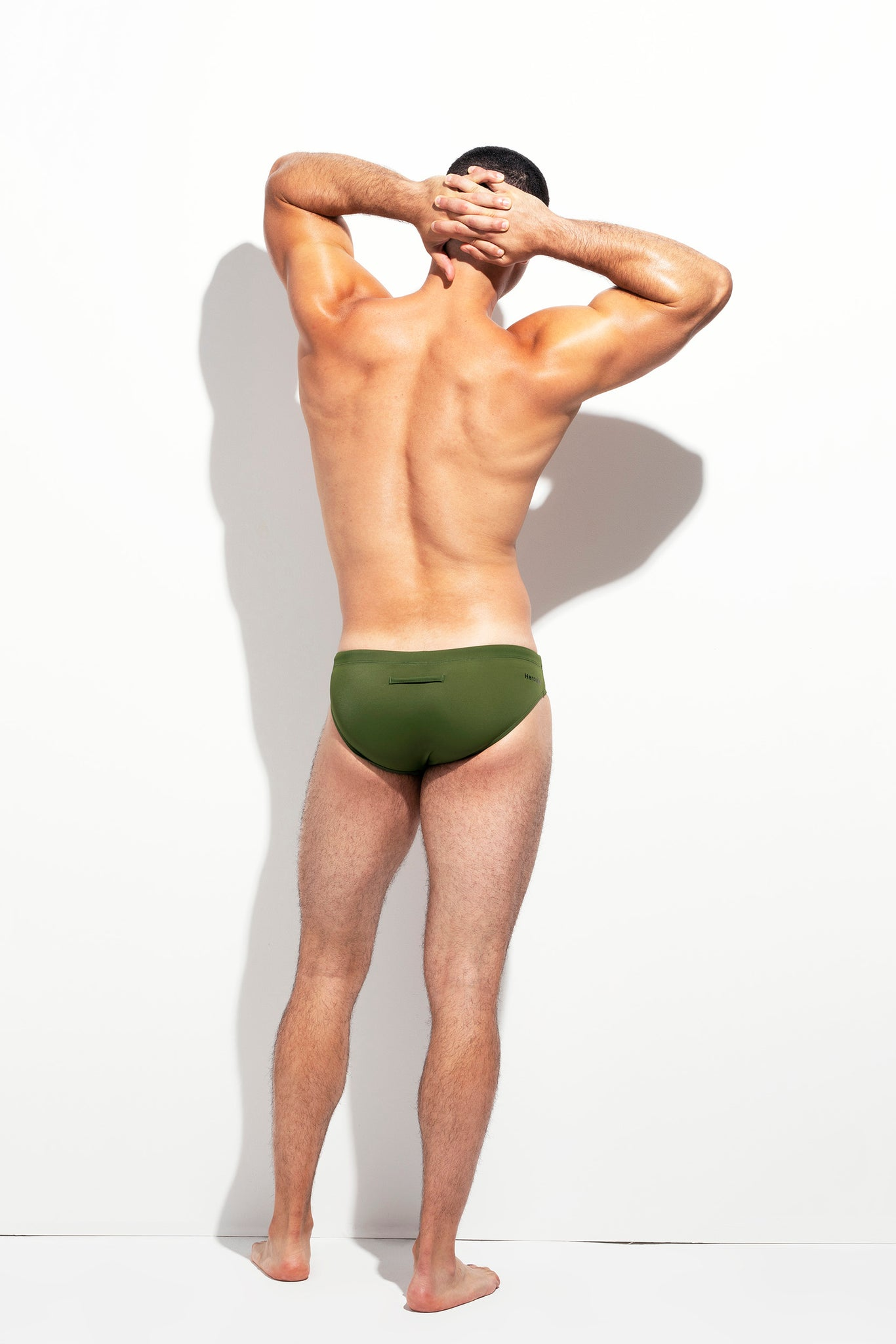 LOW CUT SWIM BRIEF PALM GREEN
