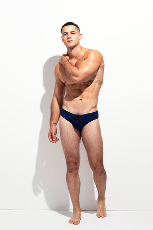 LOW CUT SWIM BRIEF NAVY