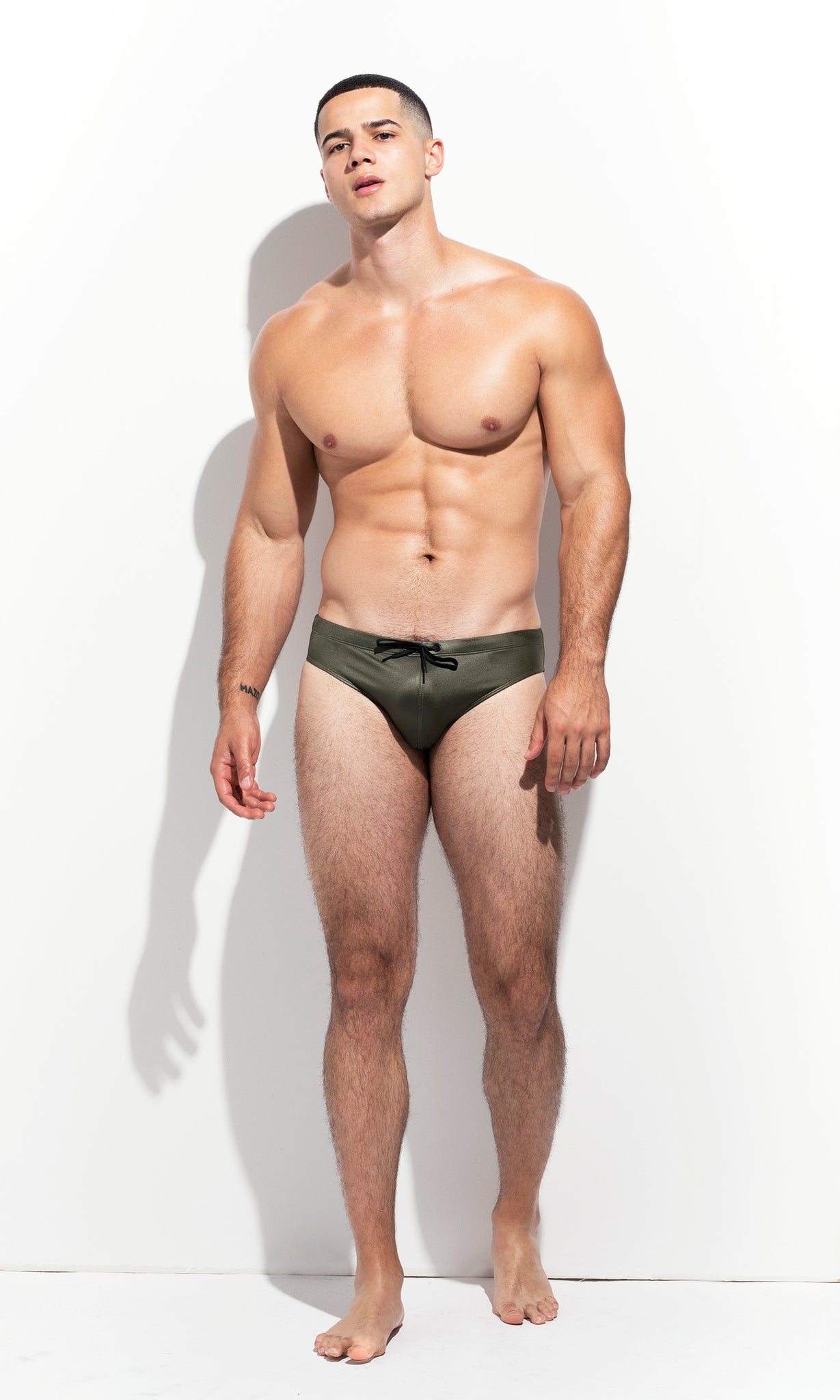 "CLASSIC CUT SWIM BRIEF ""LIMITED EDITION : METALLIC GREEN"""