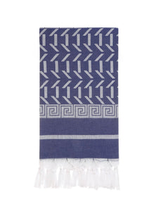 HERCULES GREEK TURKISH TOWEL NAVY