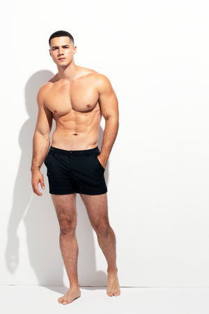 TAILORED SWIM SHORT BLACK