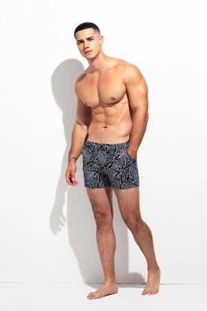 TAILORED SWIM SHORT LEAF PRINT