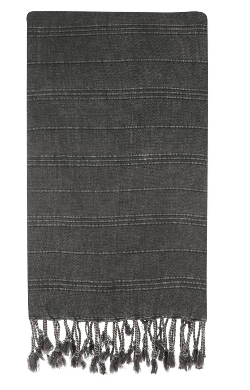 HERCULES STONE WASH BLACK TURKISH TOWEL