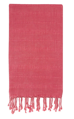 HERCULES STONE WASH ROSE TURKISH TOWEL