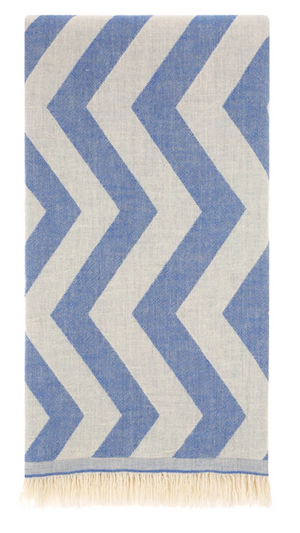 HERCULES ZIG ZAG TURKISH TOWEL - NAVY