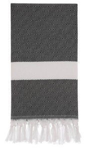 HERCULES DIAMOND TURKISH TOWEL - BLACK