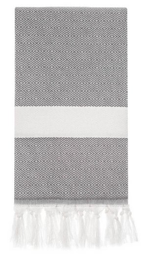 HERCULES DIAMOND TURKISH TOWEL - HARD COAL