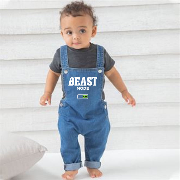 Baby Rocks Denim Dungarees (Beast Mode)
