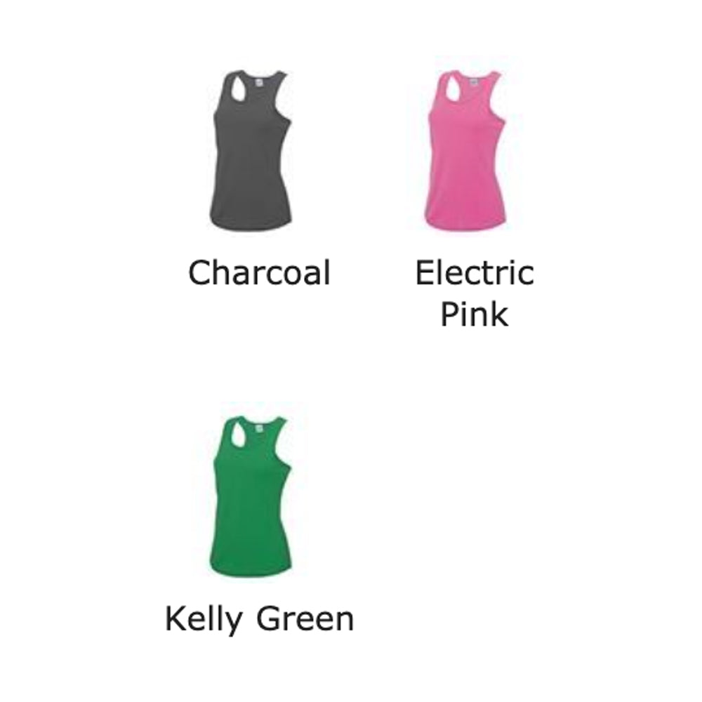 Girlie Cool Vest - Charcoal, Kelly Green, Electric Pink (Nutrition club)