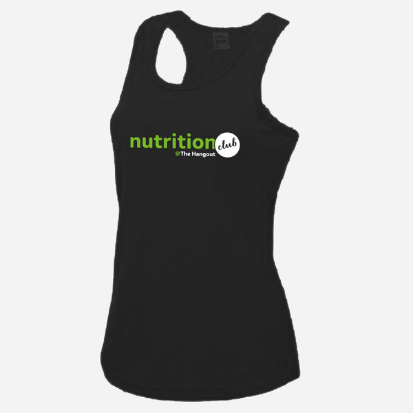 Girlie Cool Vest - Black, White, Royal Blue (Nutrition club - Personalised)