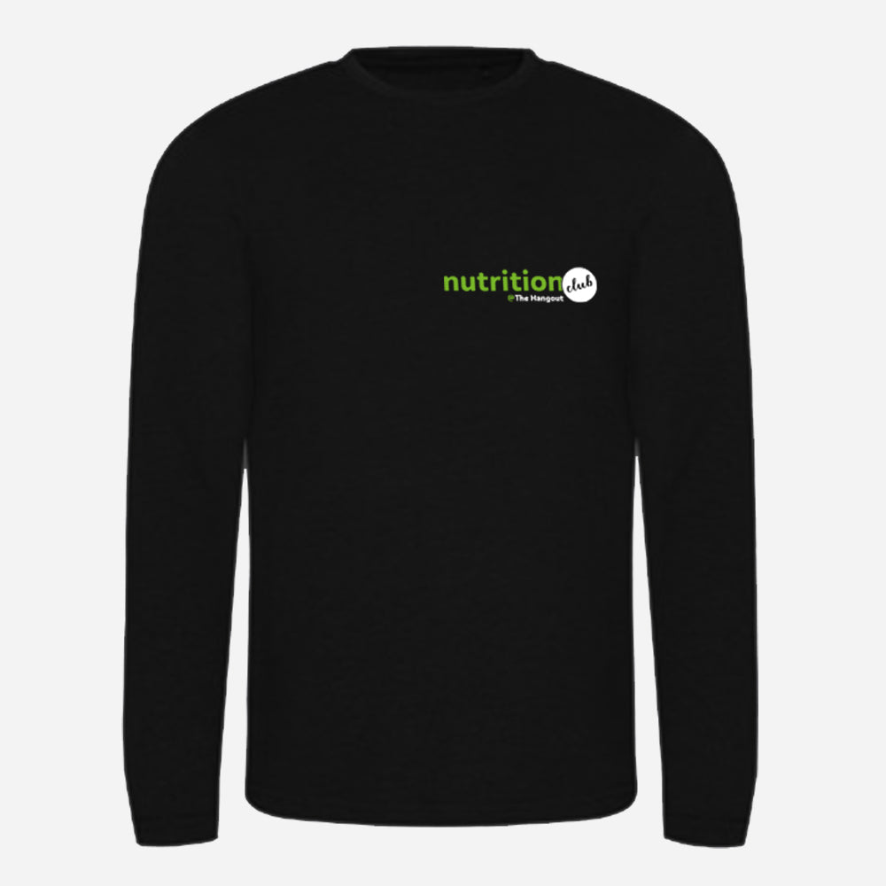 Triblend T Long Sleeve - Black, White (Nutrition club - Personalised)