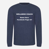Triblend T Long Sleeve - Heather Charcoal, Heather Grey, Heather Navy (Nutrition club - Personalised)