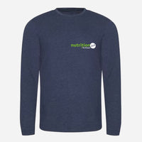 Triblend T Long Sleeve - Heather Charcoal, Heather Grey, Heather Navy (Nutrition club)