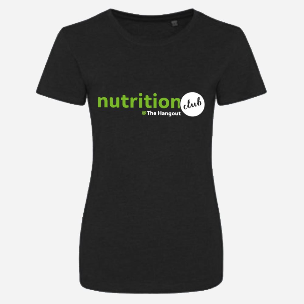 Girlie Triblend T - Black, White, Heather Grey (Nutrition club - Personalised)