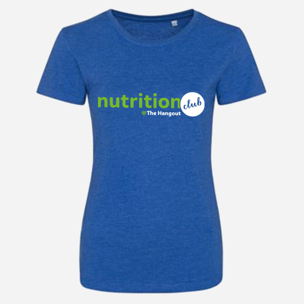 Girlie Triblend T - Heather Pink, Heather Royal (Nutrition club)