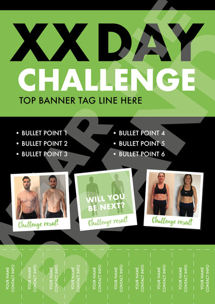 A4 - 'Before & After' Challenge Poster