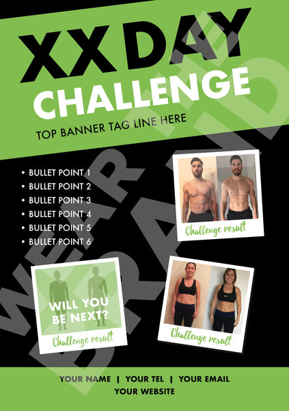 A6 - 'Before & After' Challenge Flyer