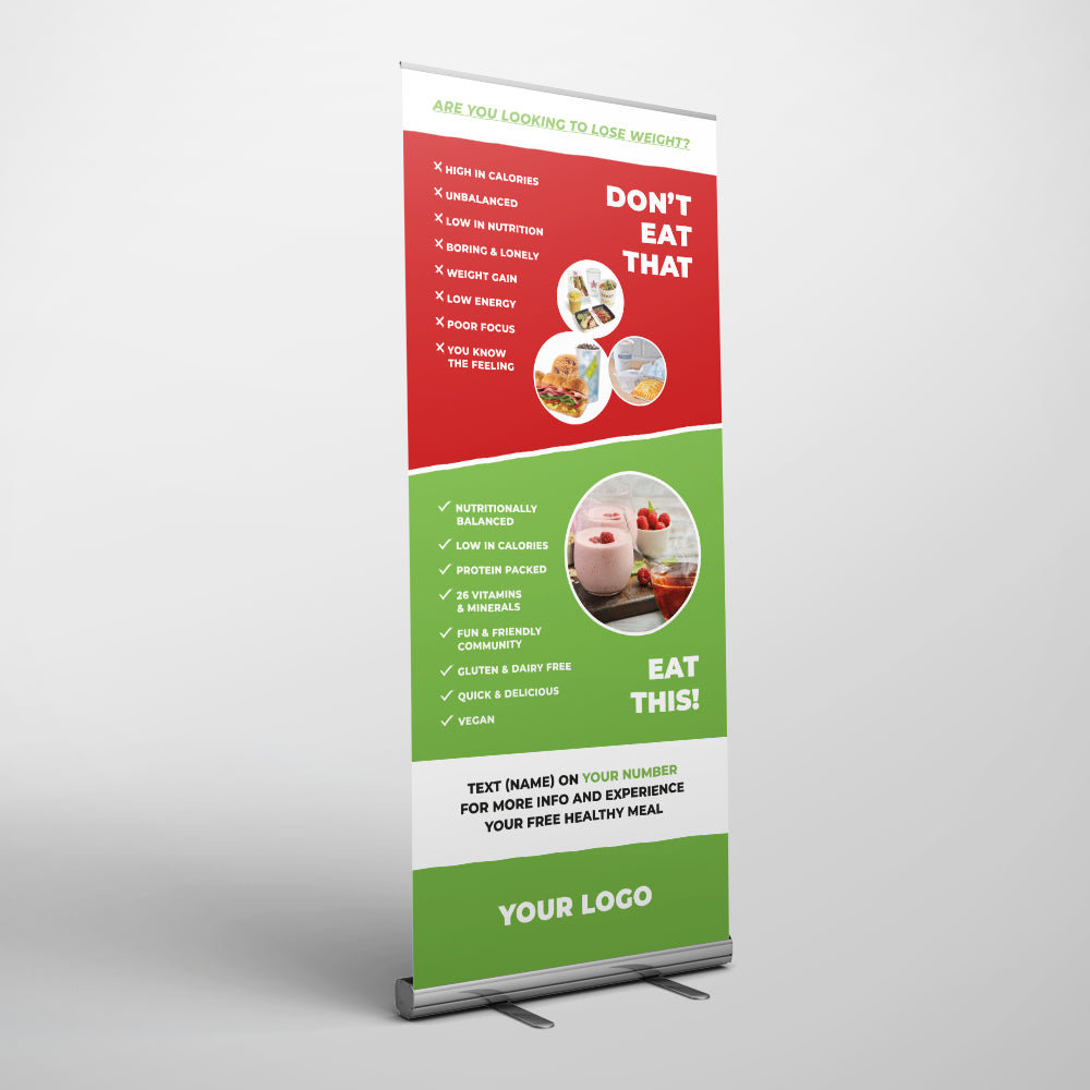 Nutrition Club Pull Up Banner Wearthebrand