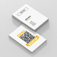 White Double Sided Business Cards with Feel Great Scan