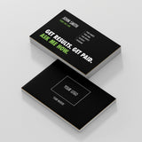 Black Double Sided Business Cards with Message
