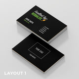 Black Double Sided Business Cards (Fuelled by Herbalife)