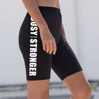 Women's Fashion Cycling Shorts (Busy Getting Stronger)