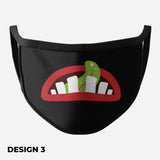 Black Face Mask (Funny Mouth)
