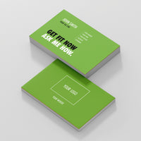 Green Double Sided Business Cards with Message