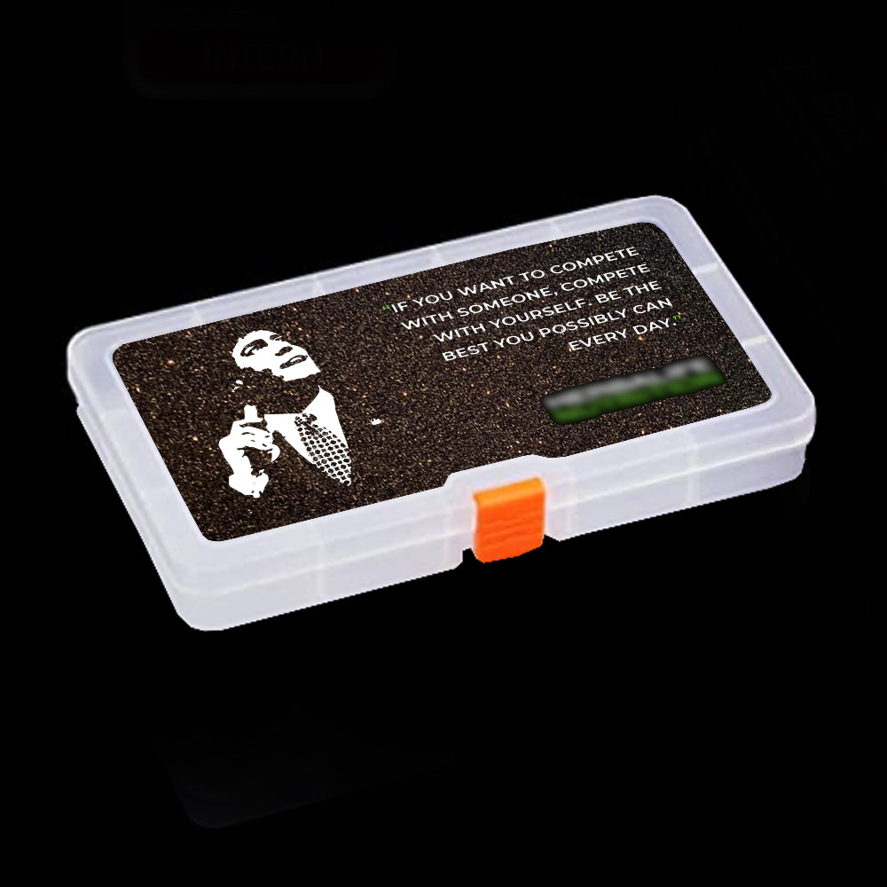 Black Glittery Tablet Box - Large & Small (Mark Hughes Quote)