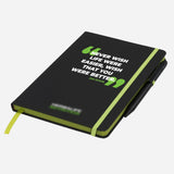 Branded Note Pad with Pen (Jim Rohn Quotes)