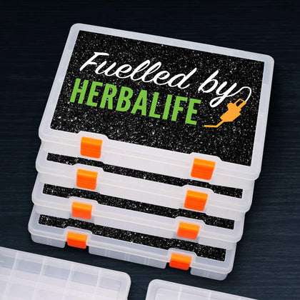 Glittery Tablet Box - Large & Small (Fuelled by Herbalife)