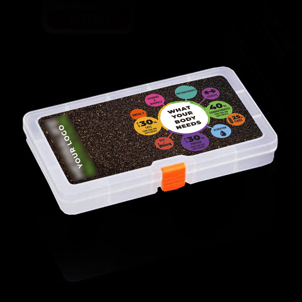 Black Glittery Tablet Box - Large & Small (What Your Body Needs)