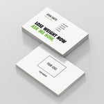White Double Sided Business Cards with Message