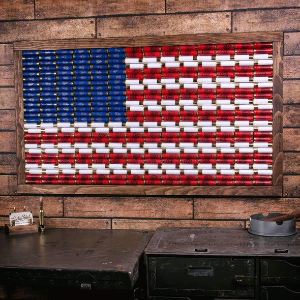 12 Gauge American Flag Wall Art - Medium