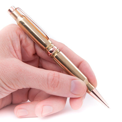 .308 Retractable Twist Pen in Polished Brass
