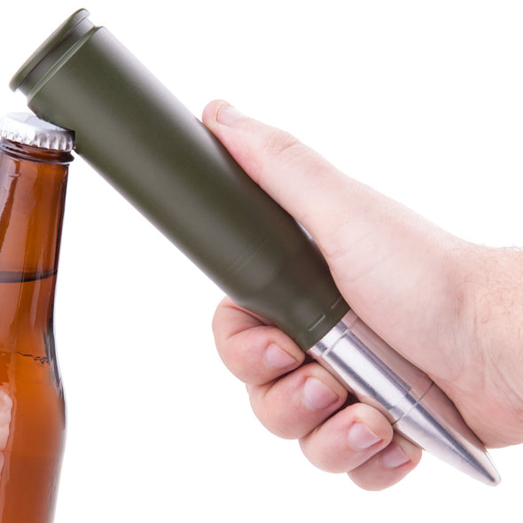 25MM Bushmaster Bullet Bottle Opener in Olive Drab