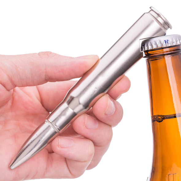 50 Caliber BMG Bullet Bottle Opener in Chrome